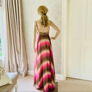 Matthew Williamson ombré silk pink maxi dress